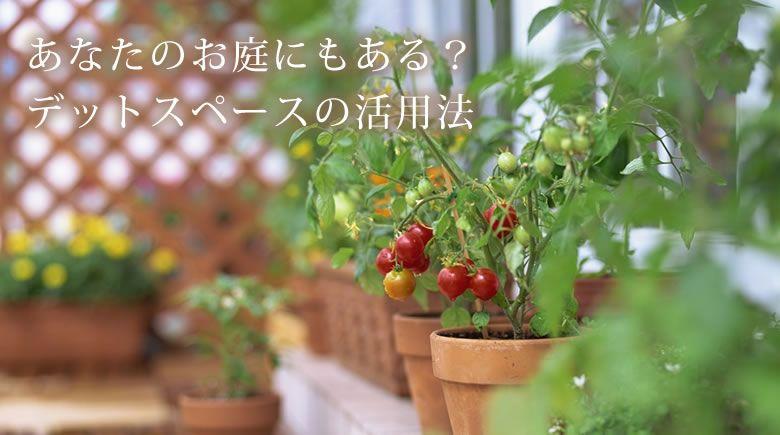 あなたのお庭にもある? デットスペースの活用法