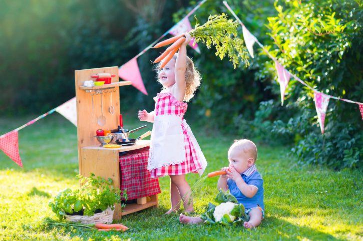 子どもが主役の庭作り